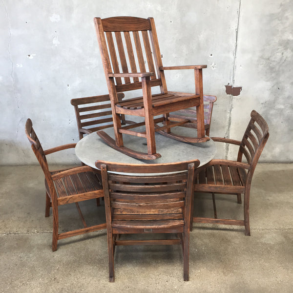 Smith & Hawken Teak and Slate Patio Set
