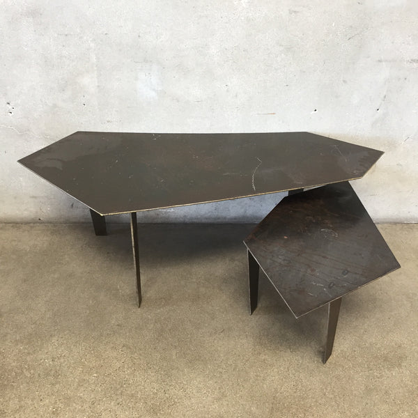 Set of Two Metal Coffee Tables