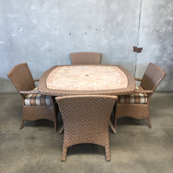 Indoor/Outdoor Tile Top Dining Set
