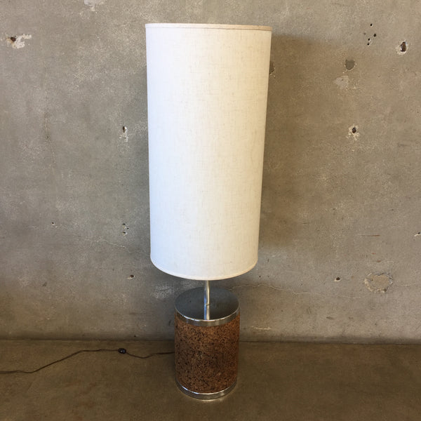 Chrome And Cork Table Lamp