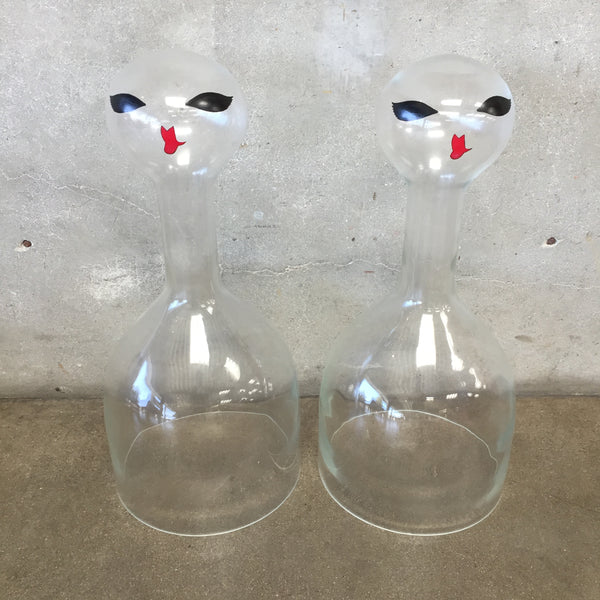 Pair Of 1960's Bell Jar Figures For Store Displays