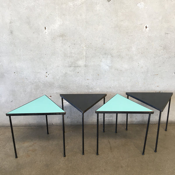 Mid Century Frederick Weinberg Tringle Stacking Tables
