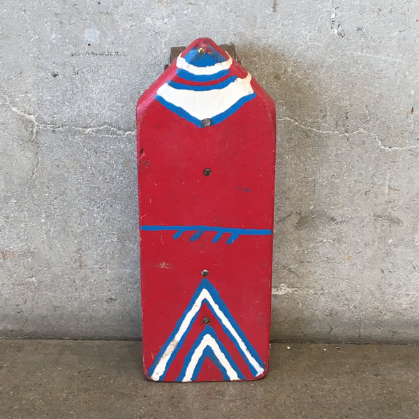 Red, White And Blue Vintage Homemade Skateboard