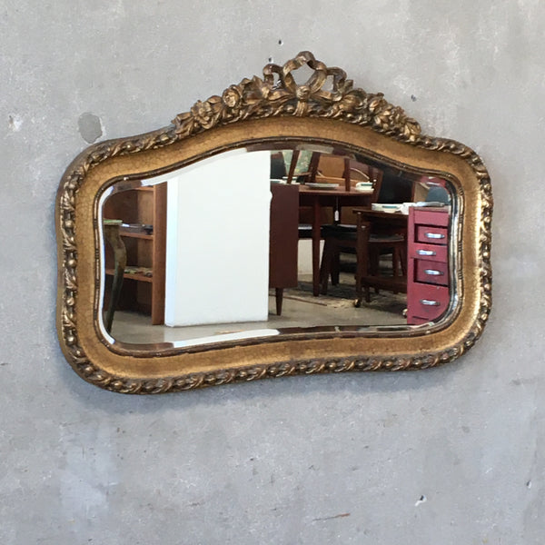 Antique Wood Carved Gilded Mirror