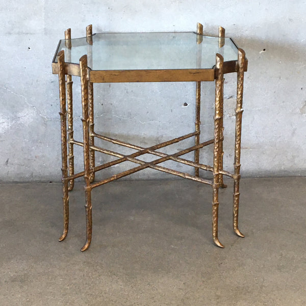 Gold Side Table with Eight Legs