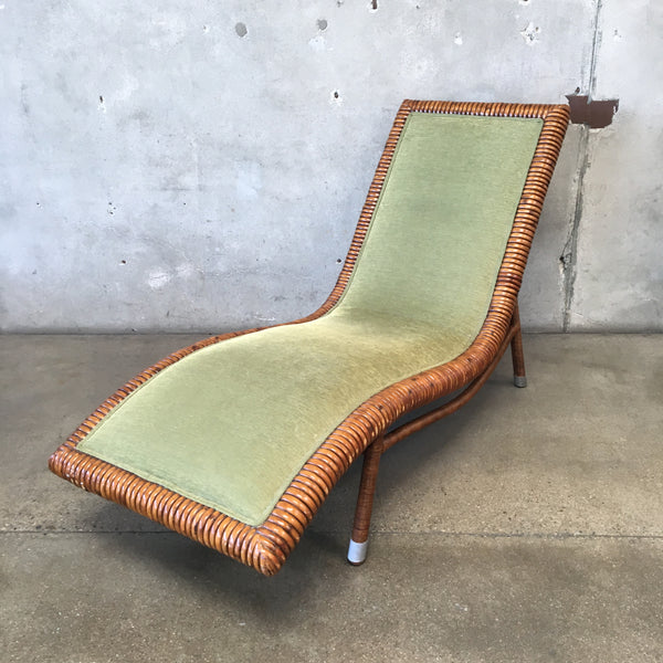 Green Chaise Lounge Chair by Palecek