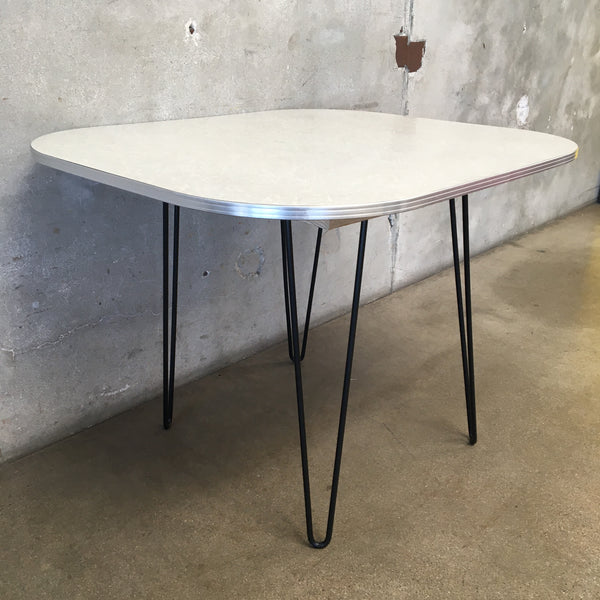 1950's Crushed Ice Formica Table with Hairpin Legs