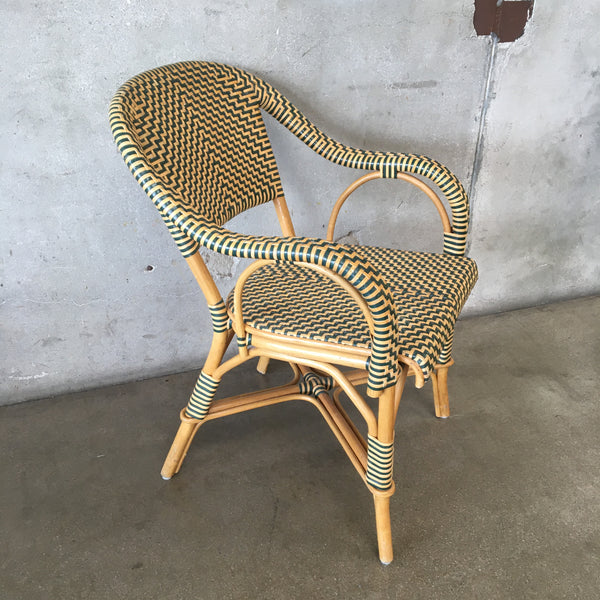 Woven Rattan Bistro Chair