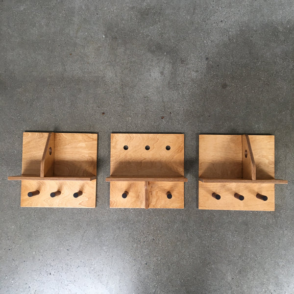 Peg And Ply Wall Organizer. Set  Of Three