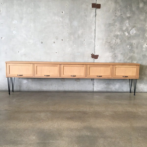 Extra Long Credenza / Cabinet on Hairpin Legs