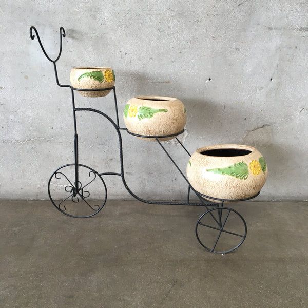Bicycle Planter with Pots