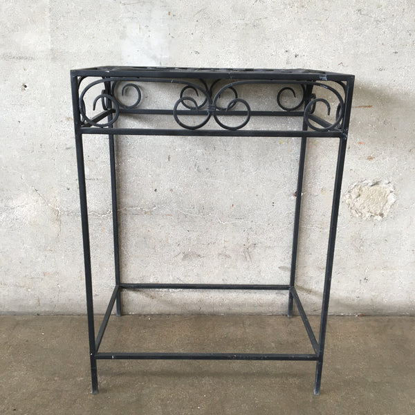 Black Iron Garden Table