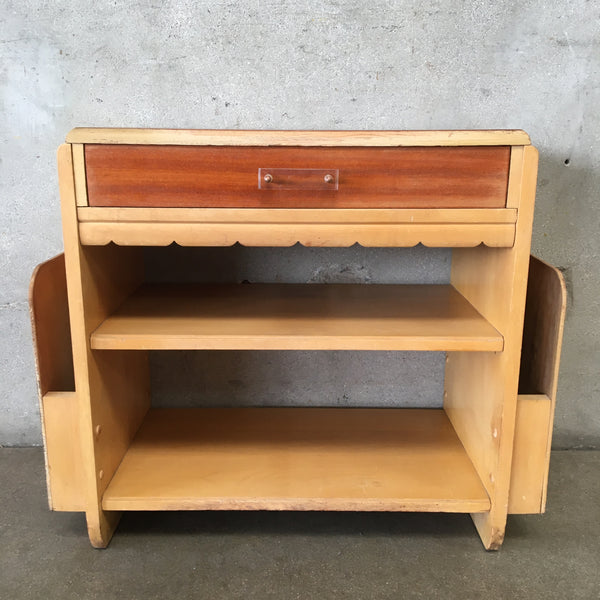 Vintage End Table Magazine Rack