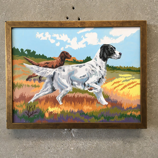 Vintage Hunting Dog Paint by Numbers