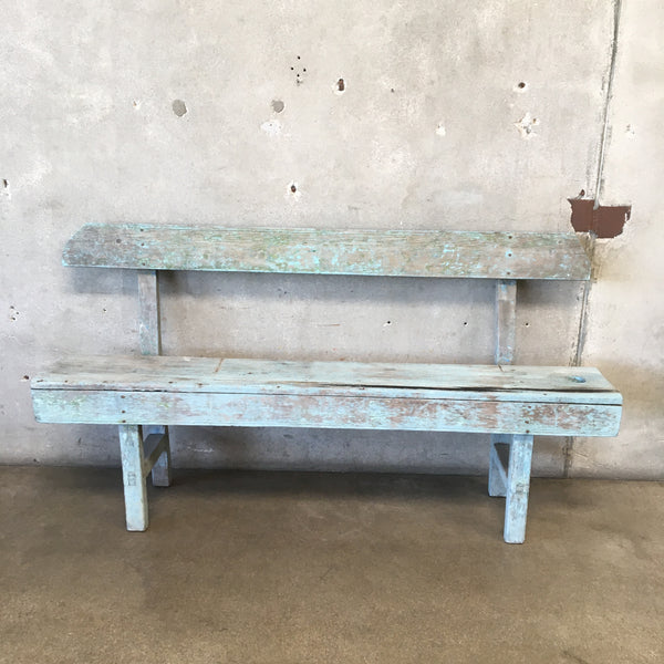 Antique Rustic Outdoor Bench