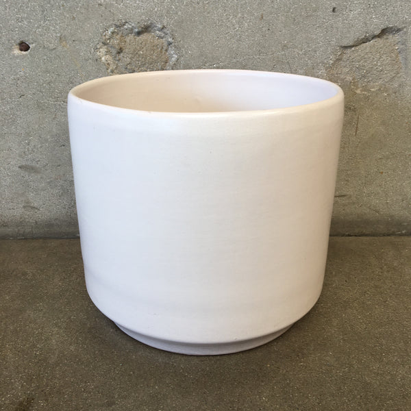 Mid Century White Planter by Gainey