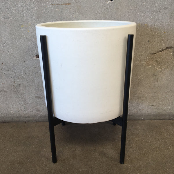 Mid Century Planter with Black Stand by Case Study Ceramics