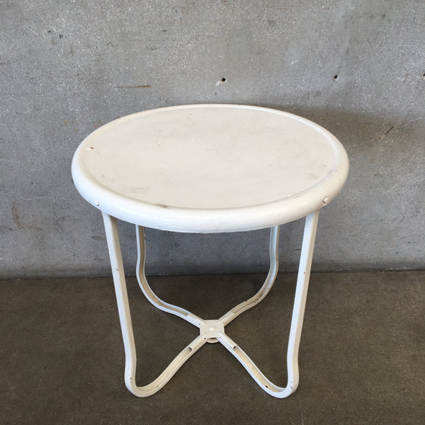 Vintage Round Metal Outdoor Table