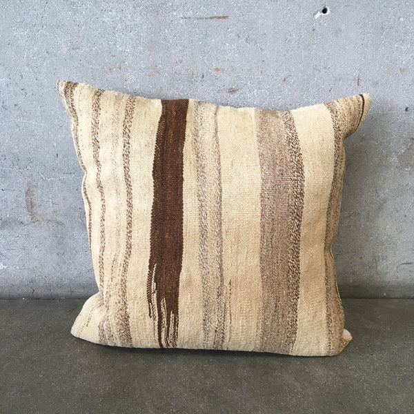 Vintage Kilim Pillow With Down Insert