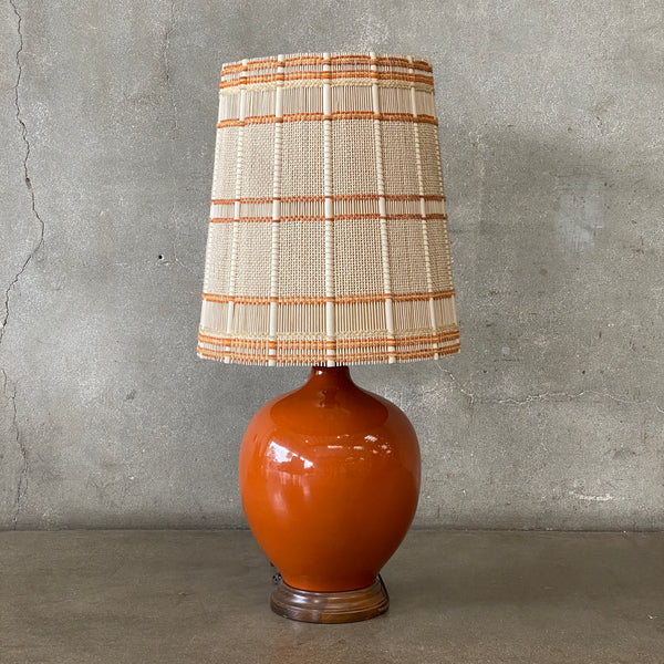 Orange Mid Century Table Lamp