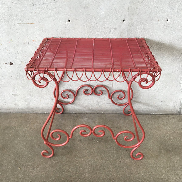 Red Iron Garden Table