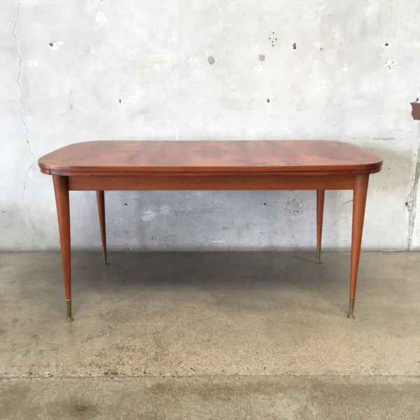 Mid Century Italian Draw Leaf Dining Table