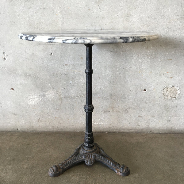Vintage Italian Marble Cast Iron Bistro Table