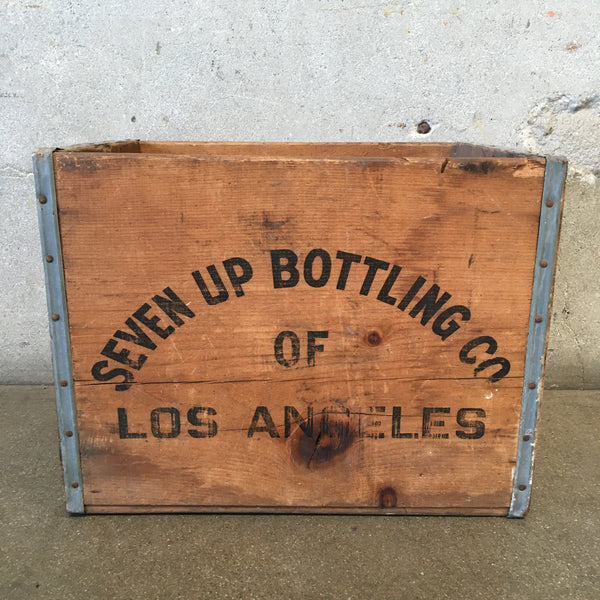 Vintage Seven Up Bottling Crate
