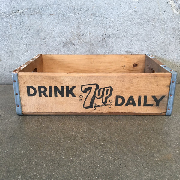 Vintage Drink 7up Daily Crate