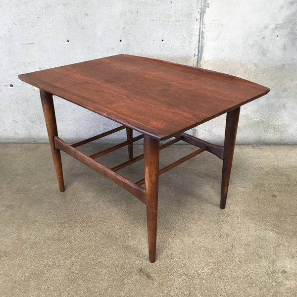 Vintage Mid Century Walnut Side Table