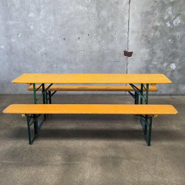 Beer Garden Table & Benches