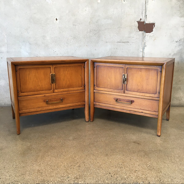 Pair of Drexel Meridian Mid Century Nightstands
