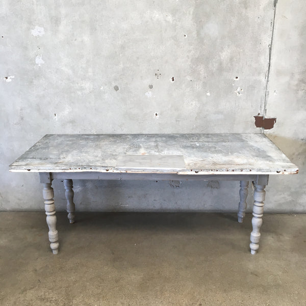 Zinc Topped Farm Table