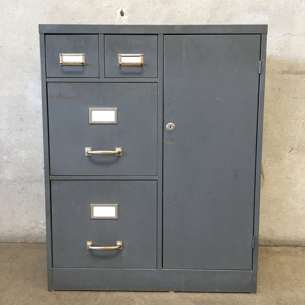 Grey Vintage Locke File Cabinet