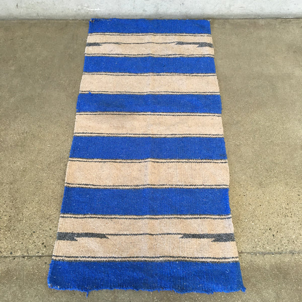 Vintage Mexican Saddle Blanket / Rug