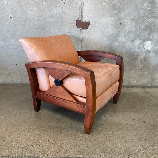 Thayer Coggin Vintage Leather Club Chair