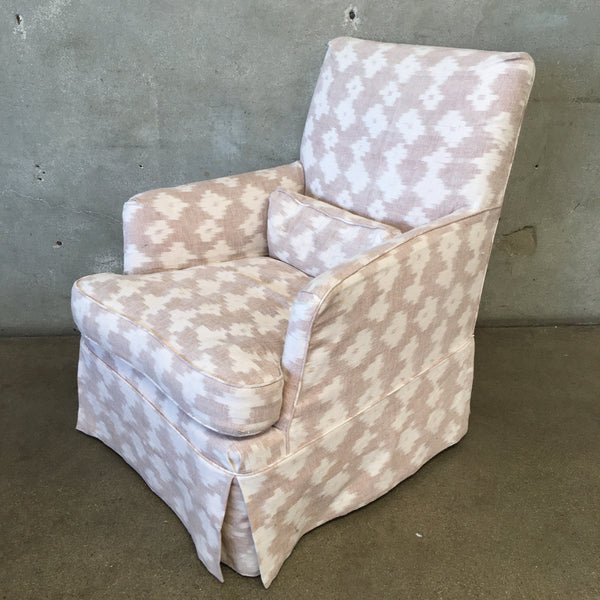 Farmhouse Style Upholstered Arm Chair