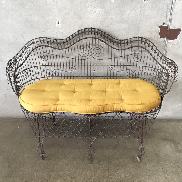 Vintage French Wire Sofa Set With Cushion