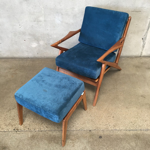 Mid Century Style Z Chair & Ottoman from Joybird