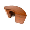 Crescent Desk Designed by Gilbert Rohde for Brown Saltman
