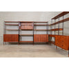 Six Section Teak Wall Unit / Room Divider by Lyby Mobler
