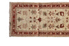 "USHAK GARDEN HAND-KNOTTED RUG IN CREAM 2'6"" X 9'4"""