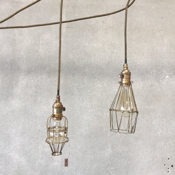 Roost Workshop Brand Brass Cage Lamps
