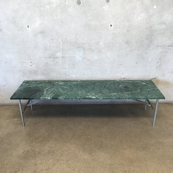 Vintage Mid Century Marble And Metal Coffee Table