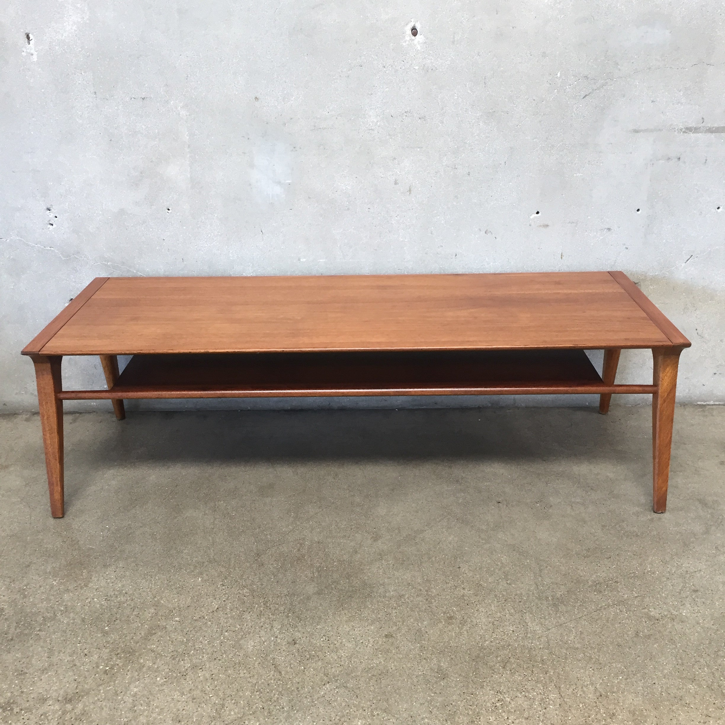 Walnut drexel profile coffee table by john van koert urbanamericana walnut drexel profile coffee table by john van koert geotapseo Image collections