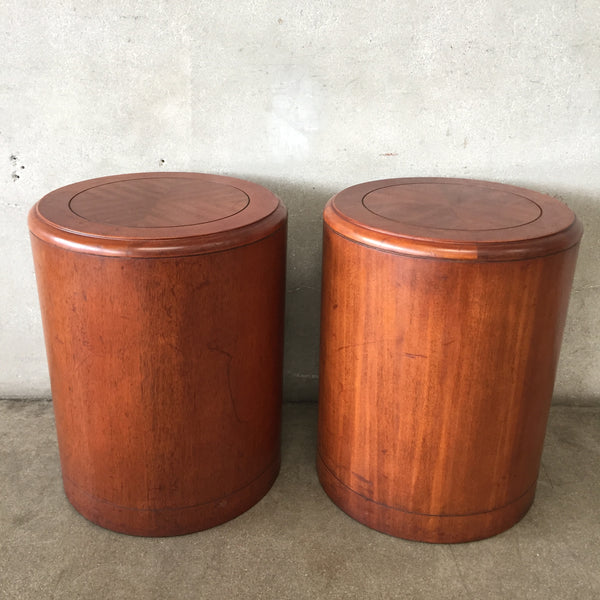 Pair of Mid Century Round Tables by Bernhardt Conran Era
