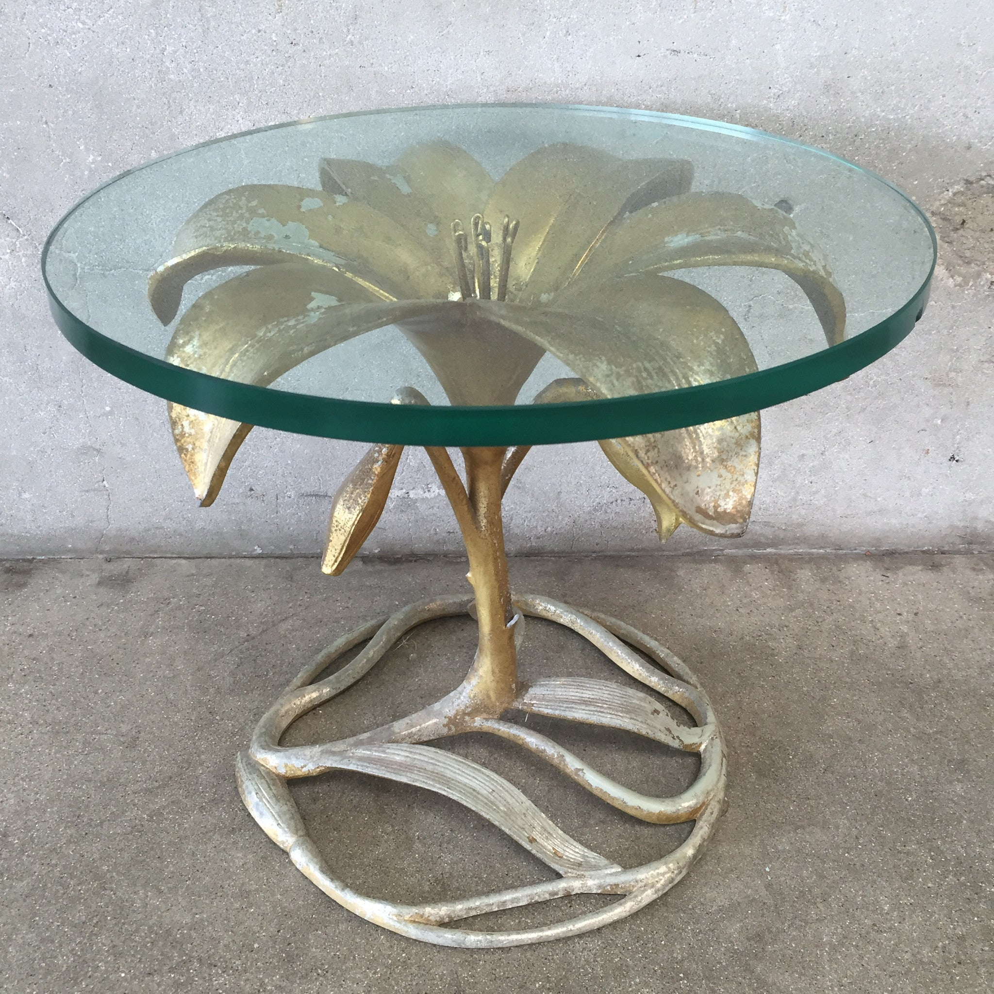 Hollywood Regency Lily Side Table By Arthur Court ...