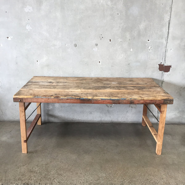 Vintage Teak Folding Dining Table - HOLD