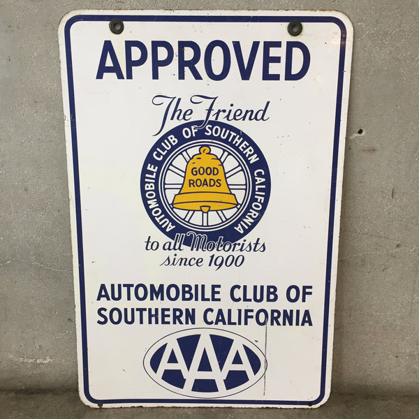 AAA Southern California Auto Club Sign