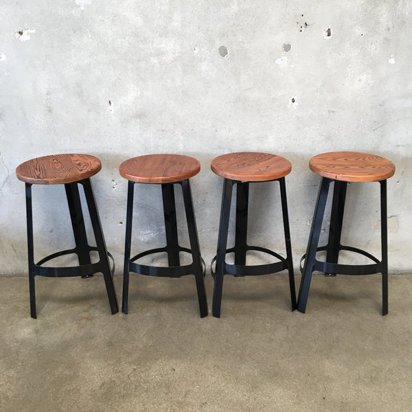 Set of Four Industry West Bar Stools
